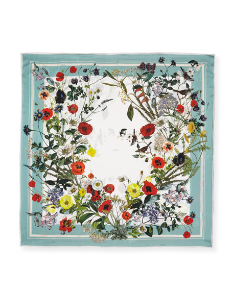 St. Piece Jacqueline Double Sided Floral Silk Scarf