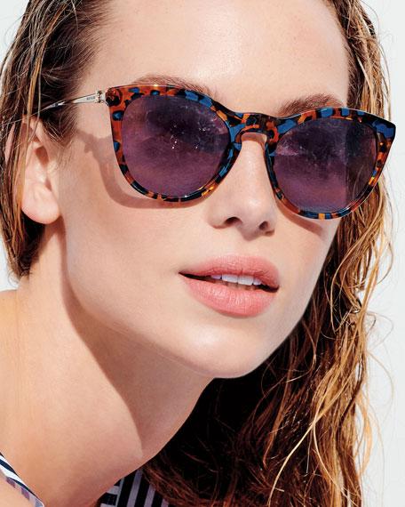 Tory Burch Cat-Eye Gradient Acetate & Metal Sunglasses