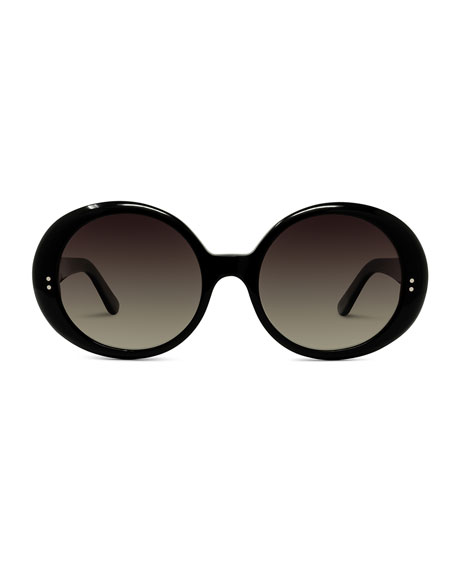 Celine Round Gradient Chunky Sunglasses