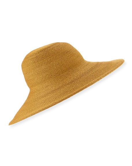 Philip Treacy Fine Sewn Braid Sun Hat