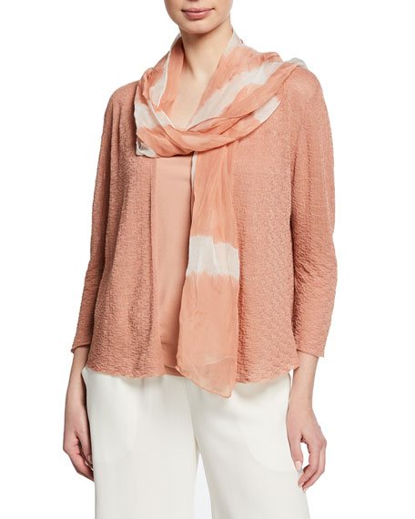 Eileen Fisher Shibori Clouds Silk Scarf