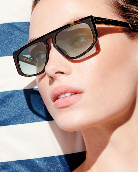 Givenchy Mirrored Rectangle Sunglasses