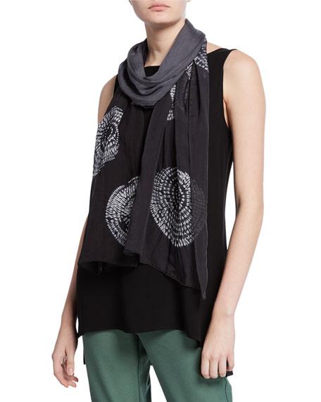 Eileen Fisher Circles Silk Shibori Scarf