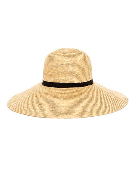 Janessa Leone ALIX WIDE-BRIM STRAW SUN HAT