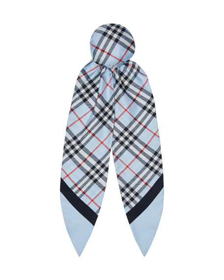 Image 1 of 3: Vintage Check Silk Hair Scarf