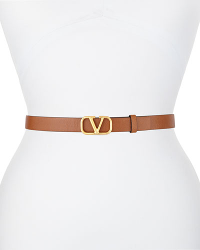 Go Logo 20mm Leather Belt