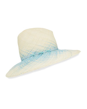 494bc40a83fb2 Jeanne Hand-Blocked Straw Panama Hat.  375 · Gigi Burris Drake Ombre Woven Straw  Panama Hat