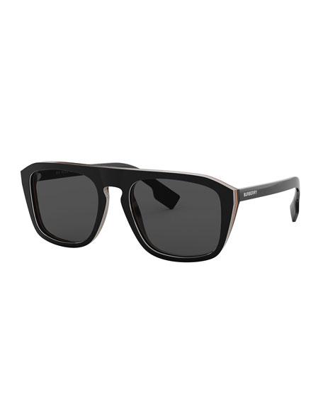 Burberry Icon Stripe Square Sunglasses