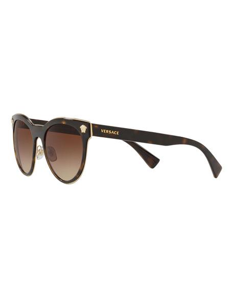 Versace Round Metal Medusa Head Sunglasses