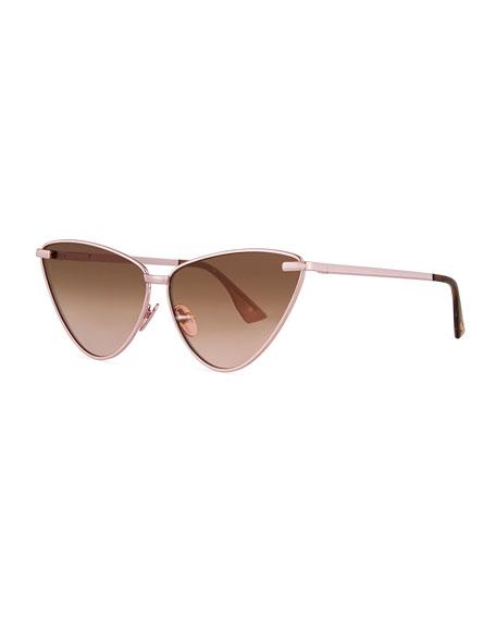 Le Specs Luxe Nero Cat-Eye Mirrored Sunglasses