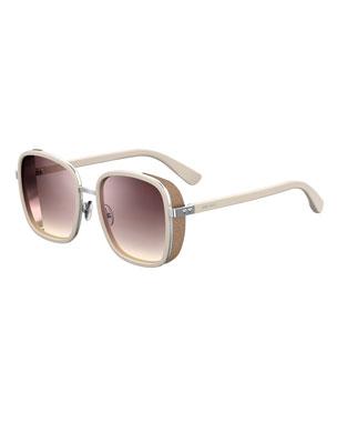 c8a40d002380 Jimmy Choo Elvas Mirrored Square Sunglasses