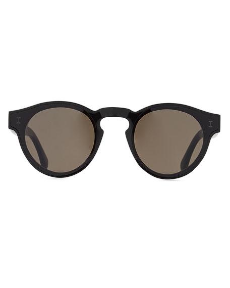 Illesteva One Point One Round Acetate Sunglasses