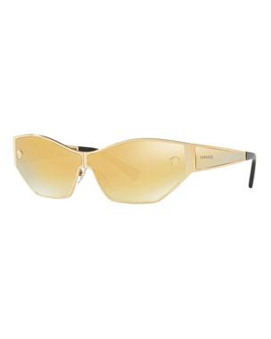 fb51dd5e959 Versace Mirrored Medusa Head Butterfly Sunglasses