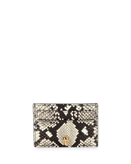 Alexander McQueen Python-Print Leather Card Case