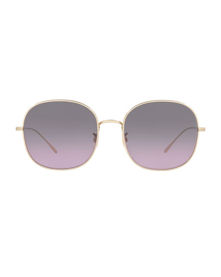Image 2 of 2: Mehrie Metal Square Sunglasses