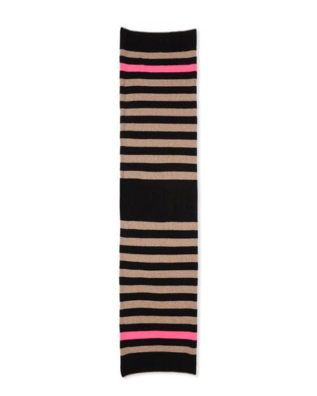 Lisa Todd Hype Multi Stripe Cashmere Scarf