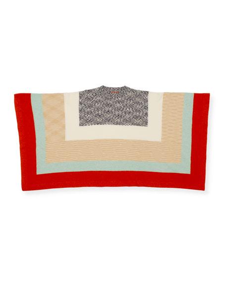 Missoni Colorblocked Striped Poncho