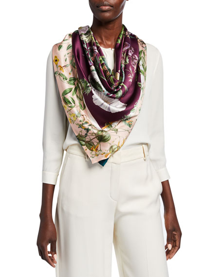 St. Piece Kendra + Karen Double Sided Silk Scarf