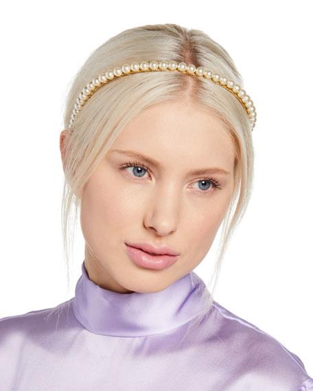 Jennifer Behr Brinn Swarovski Pearl Headband