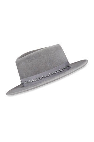 Ombre Woman/'s Bucket Hat Cashmere Blend White to Gray