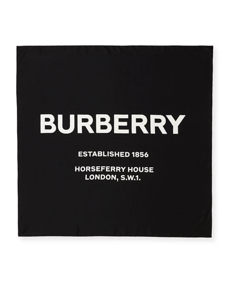 Burberry Inverse Horseferry Print Silk Square Scarf