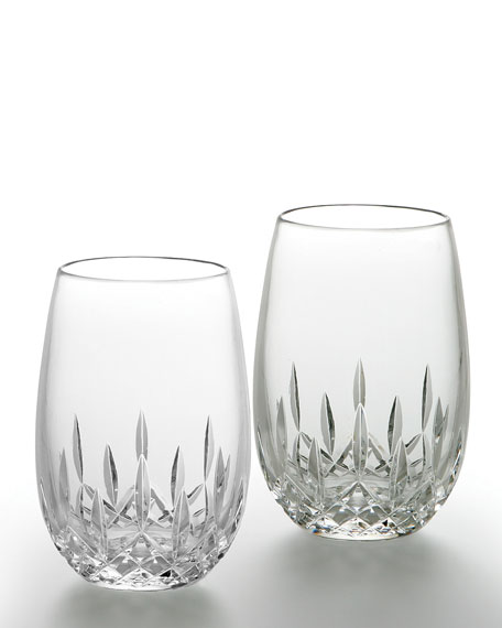 Stemless White Wine Glasses, Set of Two