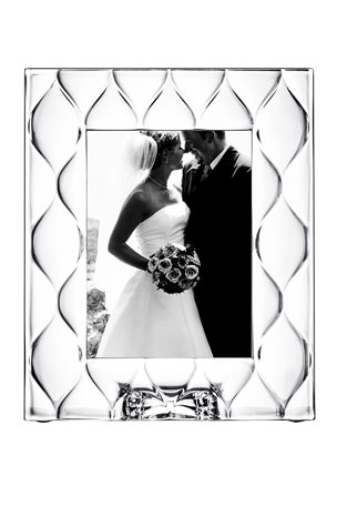 "Orrefors Diamond 5"" x 7"" Picture Frame"