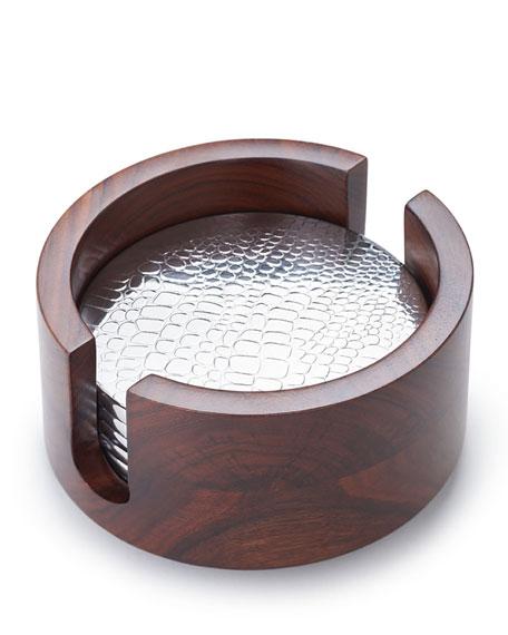 Mary Jurek Kenya Crocodile-Pattern Coasters