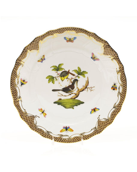 Rothchilds Bird Brown Dinner Plate