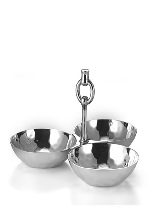 Mary Jurek Omega 3-Bowl Snack Set