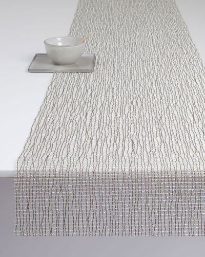 Nice Lattice Silver Table Runner