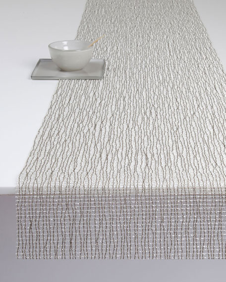 Chilewich Lattice Silver Table Runner
