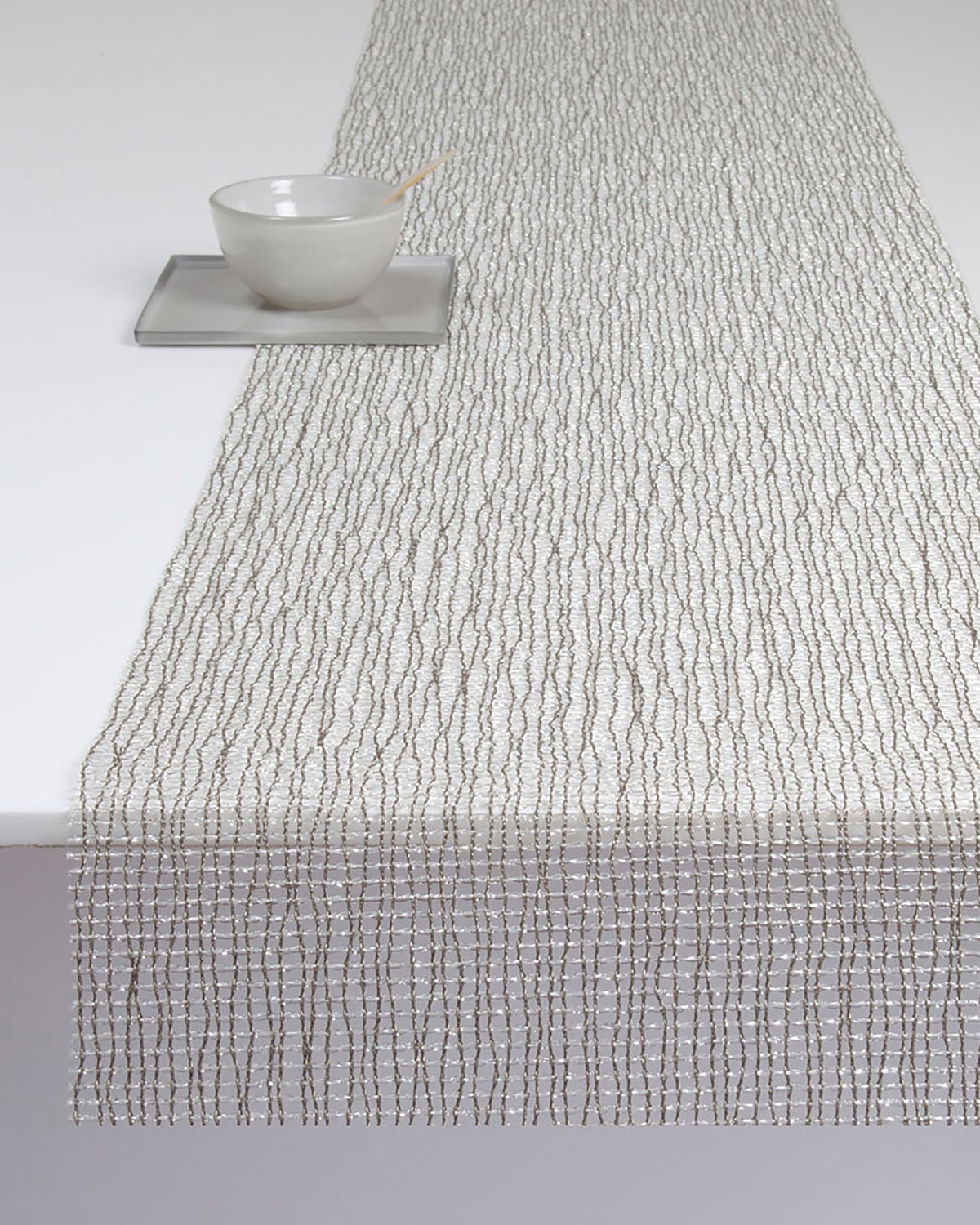 Chilewich Lattice Silver Table Runner Neiman Marcus