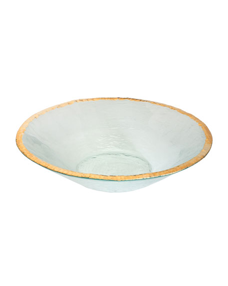 Edgey Gold Round Bowl