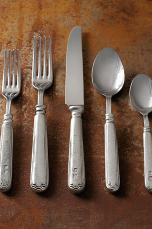 Neiman Marcus 20-Piece Filet Pewter Flatware Service