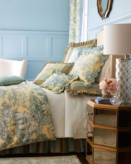 Full Lutece Cypress Toile Duvet Cover