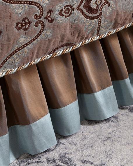 Dian Austin Couture Home Brompton Court Silk Border Queen Dust Skirt
