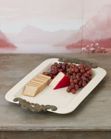 G G Collection Rectangular Serving Tray with Handles