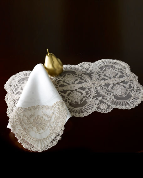 VP Designs Chantilly Lace Tablecloth, Runner, Placemat, &