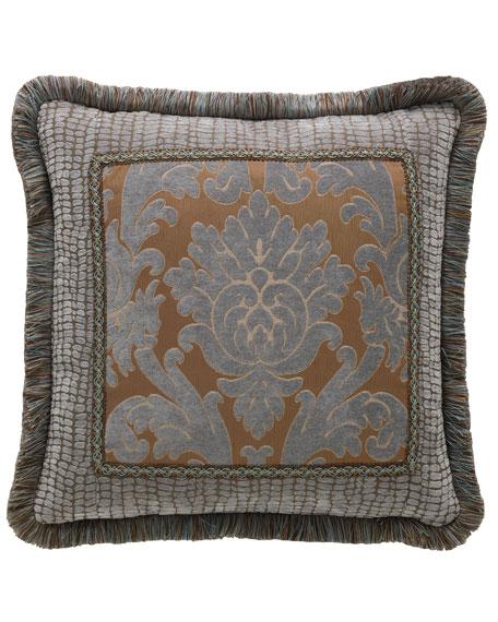 "Legacy Bella Damask Pillow, 20""Sq."