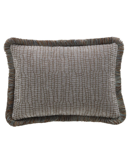 "Legacy Bella Crocodile Pillow, 14"" x 20"""