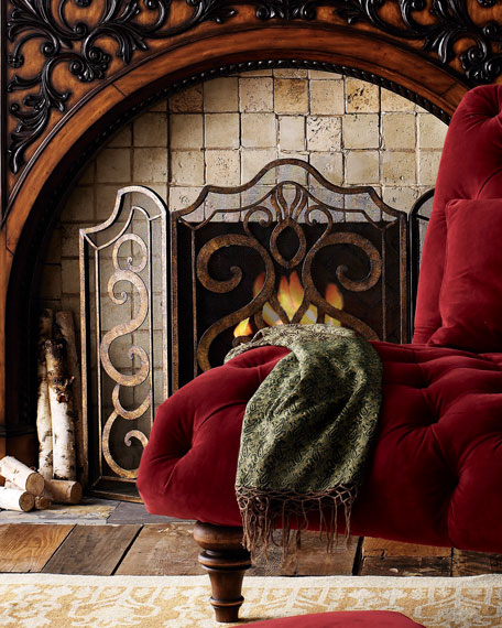 Image 2 of 2: Ambella Scroll Fireplace Screen