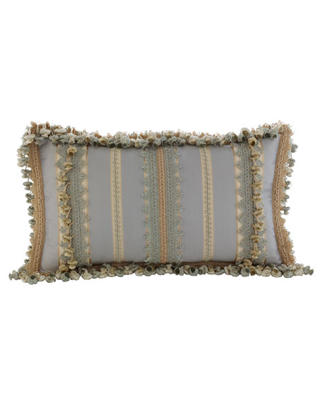 "Sweet Dreams Crystal Palace Striped Pillow, 12"" x 21"""