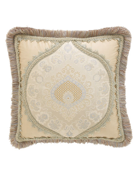 "Crystal Palace Medallion-Center Pillow, 15""Sq."