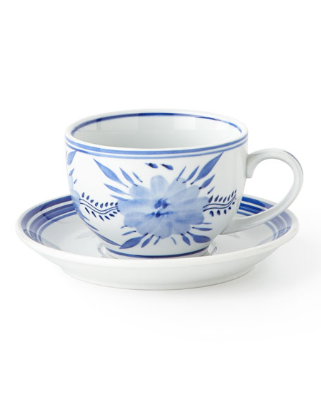 12 Traditional 10-Ounce Cups & Saucers