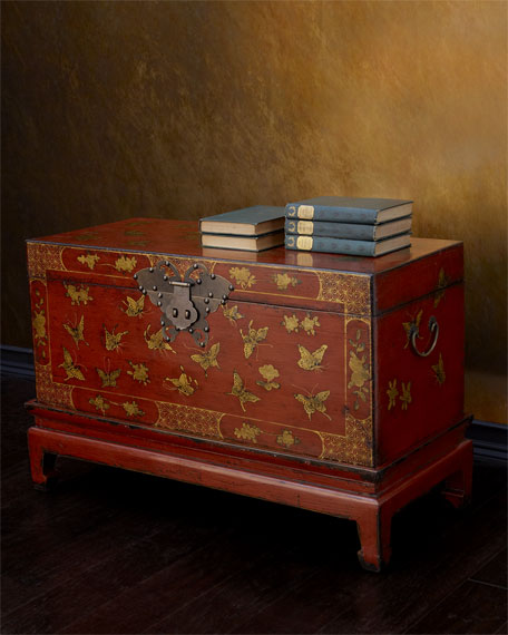 Hang Fai Antique Butterfly Trunk