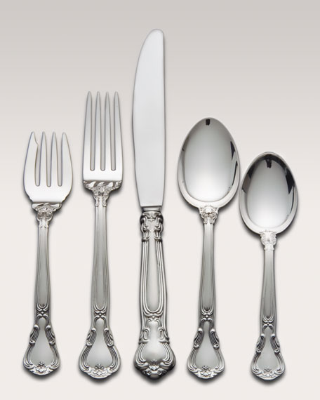 66-Piece Gorham Chantilly Sterling Silver Flatware Service &