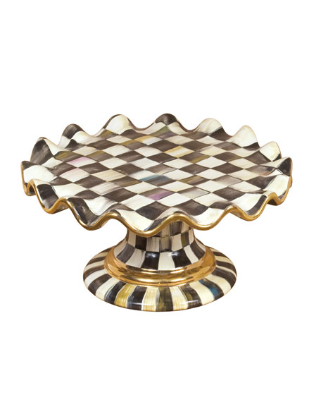 MacKenzie-Childs Courtly Check Cake Stand