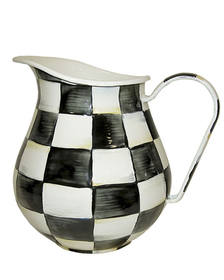MacKenzie-Childs Courtly Check Pitcher