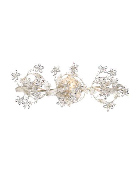 3-Light Floral Fixture